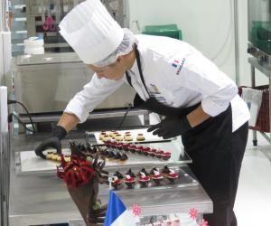Florence Lesage, vice-championne du monde en pâtisserie-confiserie.