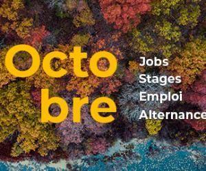 Les offres de job, de stage, d'alternance et d'emploi àne pas manquer en Octobre